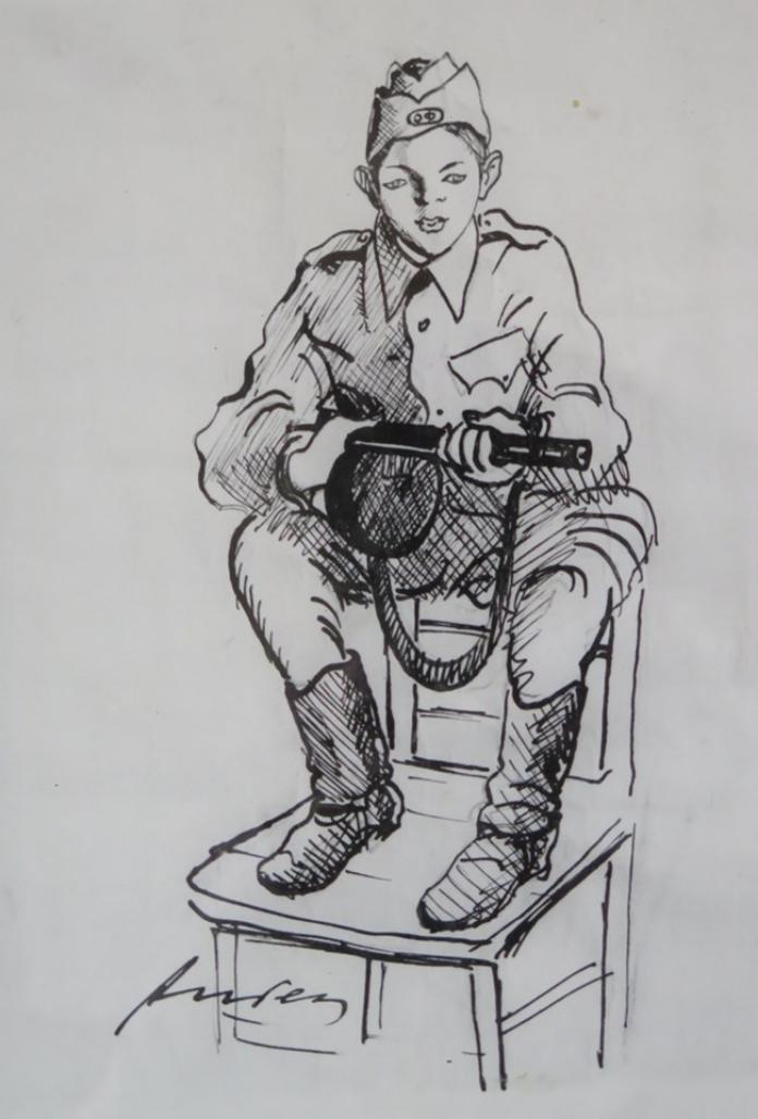 The courier of the legendary guerrilla commander Slavcho Transky, 'Goshko' from Kondofrey.